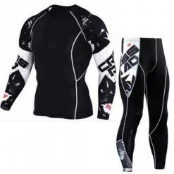 Men Sports Gym Compression Suit