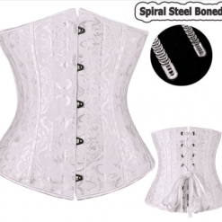 Underbust Spiral Steel Boned Waist Training Corset Plus Size