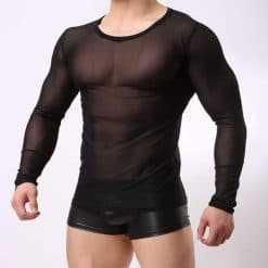 Transparent Male Long Sleeved Top