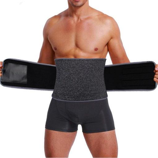 Men Neoprene Waist Trimmer Adjustable Sauna Belt