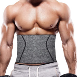 Men 4 Steel Boned Waist Trainer Slimming Belt