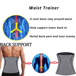 Men 4 Steel Boned Waist Trainer Slimming Belt