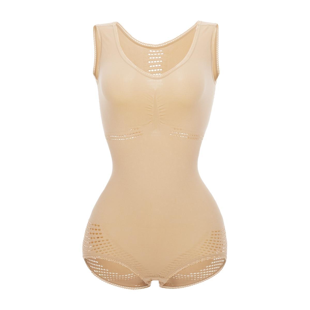 Beige Women Full Body Shaper Bodysuit